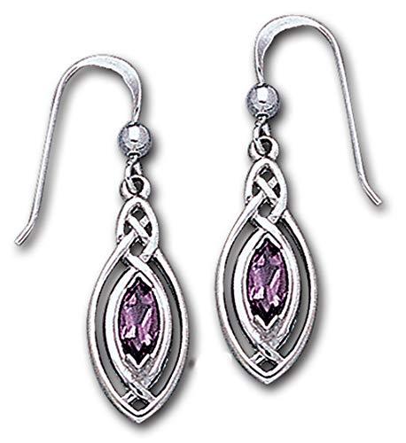 Alterras - Ohrringe: Keltisch mit Amethyst aus 925-Silber