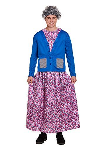 Emmas Wardrobe Costume Granny Fantasia per Adulti
