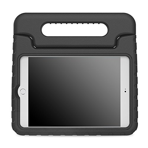 MoKo Case Fit iPad Mini 4 - Kids Shock Proof Convertible Handle Light Weight Super Protective Stand Cover Case Fit iPad Mini 4 2015 Tablet, Black