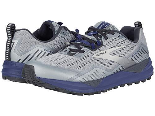 Brooks Mens Cascadia 15 Running Shoe - Ebony/Silver/Deep Cobalt - D - 7.5