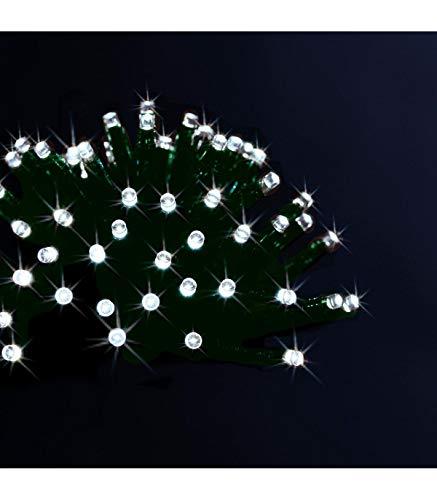 Déco Noël - Guirlande lumineuse solaire 100 LED, 10 m de lumière - Extérieur et Intérieur - Coloris BLANC Froid