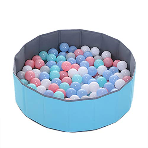 LIUFS Valla de Piscina de Bolas de océano Plegable para niños, Bobo de Interior, Bola de Tela Oxford Redonda para el hogar, Juguete para niños