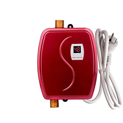 Intelligente Durchlauferhitzer, 3800W Mini-Elektro-Durchlauferhitzer Ohne Tank Mit LCD-Display Zum Waschen Der Küche Im Bad