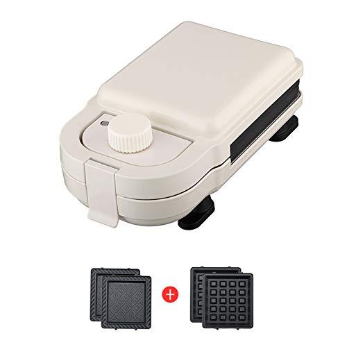 AZCSPFALB Macchina per Waffle Mini Multifunzione con Teglia Estraibile, Chip di Controllo della Temperatura di Sicurezza y Resistenza alle Alte Temperature, Riscaldamento Rapido - 550W