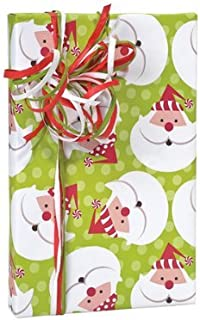 Christmas Santa Peppermint Twist Gift Wrap Wrapping Paper 16 Foot Roll