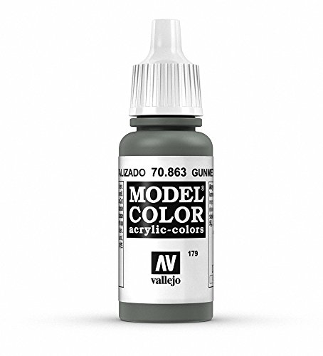 Vallejo, Model Color, Acrylfarbe, 17 ml Metallic Gunmetal Grey