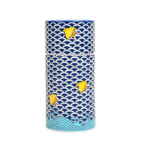 Japanisches Kutani Sake-Trinkset, Tokkuri 225 cl und Ochoko-Becher (stapelbar) (Chidori SK-385)