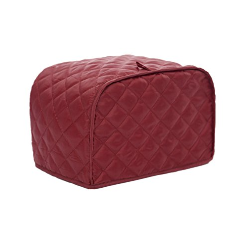 Two Slice Toaster Cover, Dust and Fingerprint Protection, Machine Washable (11.5 x 8 x 8 inch, Red)
