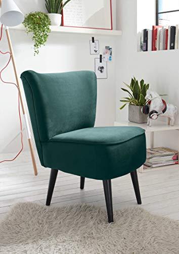 lifestyle4living Esszimmerstuhl, gepolstert, grün, Vintage Look, Rückenechter Stoff-Bezug | Eleganter Polsterstuhl für Küche und Esszimmer