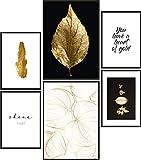 Papierschmiede® Mood-Poster Set Blattgold | Bilder als