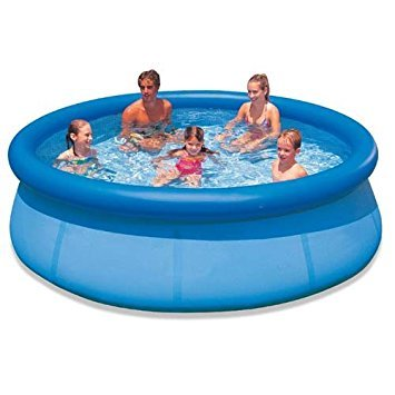 Large Fast Set Pool - 8 Ft or 10 Ft Quick Set Family Pool Garden Splash Paddling Pools 8 or 10 Foot Round Pool