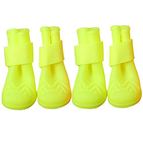 jingxiaopu Botas De Agua para Perros Calzado para Perros Impermeable Zapatos Perro Grande Antideslizantes Zapatos Impermeables para Perros Botas para Largas Caminatas Green,#4