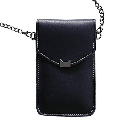 MJYT Touches Screen PU Leather Change Bag Women Crossbody Mobile Phone Pouch Wallets