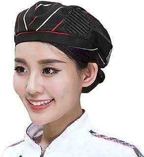 Adult Chef HatFlat Beret Mesh Kitchen Catering Duckbill Cap Pastry Baker Cooking Waiter Uniform Cap for RestaurantHotel