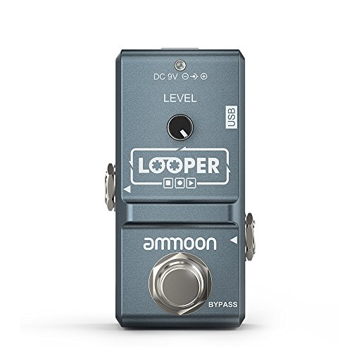 ammoon AP-09 Nano Loop Electric Guitar Effect Pedal Looper True Bypass Unlimited Overdubs 10 Minutes Recording with USB Cable New Jersey