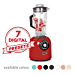 Dash Chef Series 64 oz Blender with Stainless Steel Blades + Digital Display for Coffee Drinks, Frozen Cocktails, Smoothies, Soup, Fondue & More - Red (Renewed)