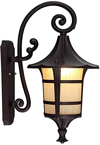 MUZIDP Aplique de pared Lámpara de pared Minimalista Retro al aire libre impermeable de aluminio lámpara de pared Luces de jardín Sala Balcón Luces de pasillo Jardín Vidrio Luz de pared