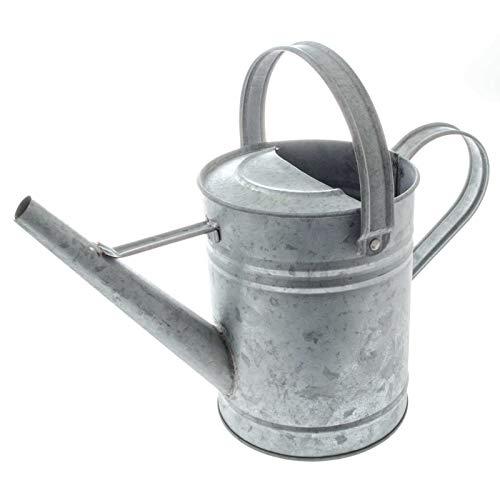 SIDCO Gießkanne Metall Blechkanne Wasserkanne Alt-Zink Dekokanne Landhaus Kanne 1,5 L