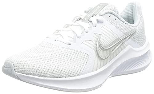 Nike Wmns Downshifter 11, Damen Laufschuhe, Weiß / Mtlc Silver-Pure Platinum-Wolf Grey, 40 EU