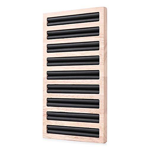 Tornado Bambus Holz Ring Ohrringe Display Tablett Ständer Schaukasten PU Ring Organizer Platte für Zuhause Theke Fenster Show Schmuck Organizer Schwarz
