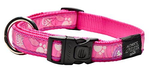 Rogz Beachbum - Collar para Disfraz (tamaño Grande), diseño de Huella de Color Rosa