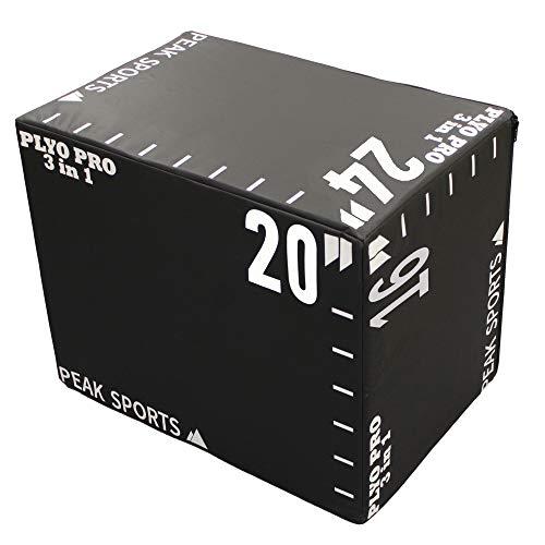 Peak Sports Plyobox (mediano, negro y blanco)