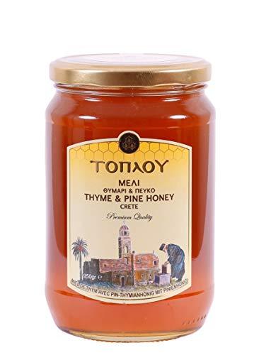TOPLOU PREMIUM HONIG aus Thymian & Pinien von Kreta 950g Si-Mel | Griechischer Honig | Region Sitia