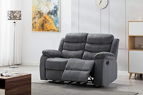Kingway Modern Fabric 3pcs Reclining Set for Living Rooms Upholstered