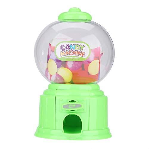 Oumij Mini Dispensador de Caramelos + Hucha de Ahorro Máquina Portátil de Dulces para Niños Dispensador de Mini Chicles de Plástico Regalo de Kindergarten para Niños para Cumpleaños, Navidad(Verde)