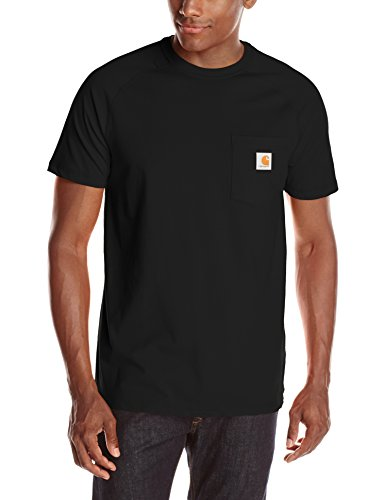 Carhartt Men's Force Cotton Delmont Short Sleeve T-Shirt (Regular and Big & Tall Sizes), Black, Large Tall