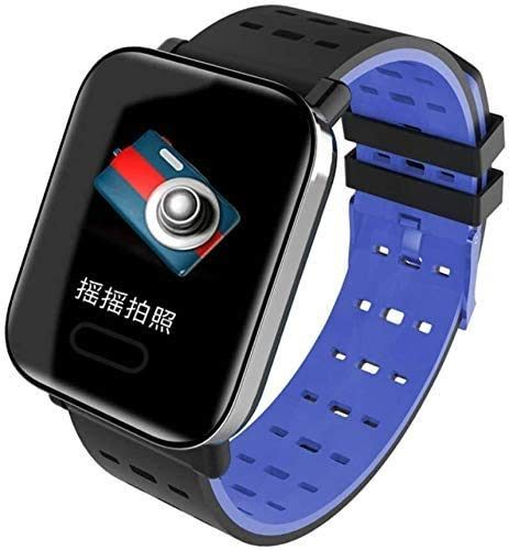 ZHENAO Fitness Tracker Smart Bracelet Real-Time Heart Rate Blood Pressure Sleep Monitoring Exercise Step Blue Sport Fitness Tracker Fashion