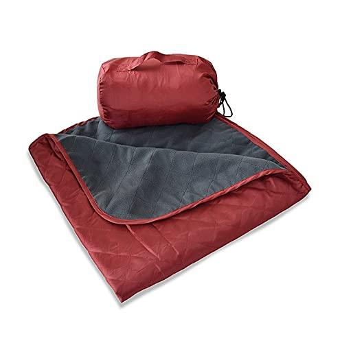 COJJ Manta a Prueba de Agua Manta al Aire Libre Campo de montañismo Camping Matear Fleece cálido Picnic Mat Office Sofá Sofá Aire Acondicionado Manta