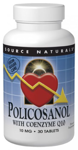 SOURCE NATURALS Policosanol with Coenzyme Q10 10 Mg Tablet, 60 Count