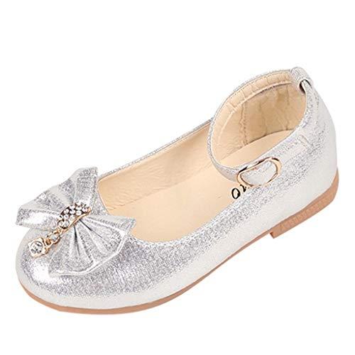 Fannyfuny Kinderschuhe Pumps Sandalen Mädchen Tanzschuhe Glänzend Pailletten Ballerinas Schuhe Prinzessin Schuhe Lederschuhe einzelne Schuhe Besondere Anlässe Taufe Hochzeit Party Schuhe mit Bowknot