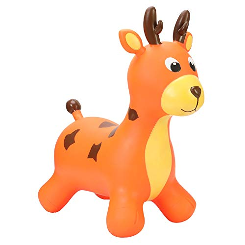 SXNYLY Inflatable Rocking Horse Jumping Horse Riding Toy Elastic Inflatable Animal Mount Boys and Girls, Toddlers (Pump Included) (Color : Brown)