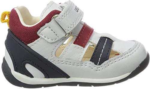 Geox B Each Boy A, Zapatillas Bebés, Blanco White/Navy