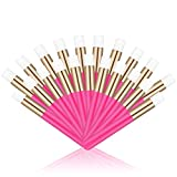 20 Pcs Hot Pink Lash Shampoo Brush Eyelash Extensions Supplies Cosmetic Brushes Peel Off Blackhead Brush Remover Tool Lash Cleanser Soft Brushes (20PC)