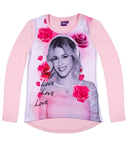 Disney Violetta Langarmshirt LA-Shirt Kollektion 2016 Shirt Mädchen Disney Channel, Rosa, 140