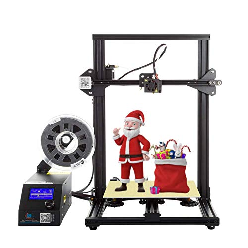 Creality CR-10 Black 3D Printer Open Source All Metal Frame 12x12x15.5 Inch Build Volume and Heated Bed Includes Glass Bed