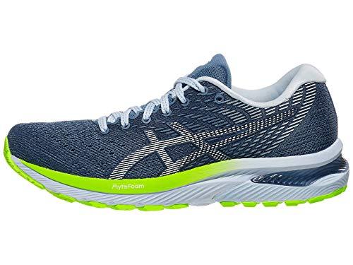 ASICS Zapatillas de running Gel-Cumulus 22 para mujer, azul (Hilo Gris/Blanco), 35 EU