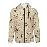 Unique Tortilla Taco Wrap Funny Print Boys Girls Jacket Zip Up Hoodie Long Sleeve Sport Sweatshirt...