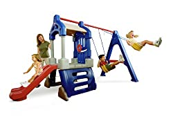 little tike clubhouse swing set