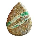 Variscite australiano verde naturale a forma di pera, dimensioni 47 x 35 x 6 mm, per la creazione di gioielli, liscio, ciondolo pietra variegata, AG-5752