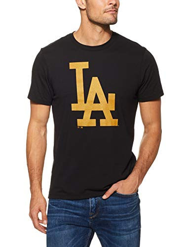 47 Brand MLB Los Angeles Dodgers T-Shirt Uomo Nero M (Medium)