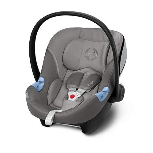 CYBEX Gold Portabebé Aton M, En contra de la marcha, Incluye reductor para recién nacido, Desde el nacimiento hasta aprox. 24 meses, Máx. 13 kg, Gris (Soho Grey)