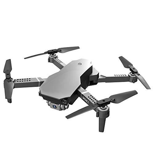 Gaoominy Drone RC con 4K HD Gran Angular CáMara Dual Drone 2.4G WiFi FPV Drone Modo de RetencióN de Altura RC Quadcopter Drone Gris