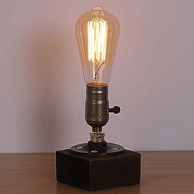 HAITRAL Vintage Steampunk Lamp - Antique E26 Edison Bulb Industrial Desk Lamp, Minimalist Loft Style Accent Lamp for Living Room, Office, Café, Pub (Bulb Not Included)