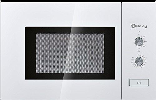 Balay 3WM360BIC Micro-ondes rotatif intégré avec bouton 800 W Blanc 20 l