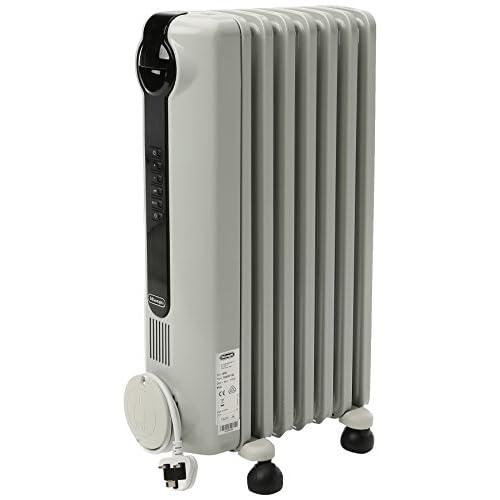 41BaVBu6RuL. SS500  - DELONGHI De'Longhi TRRS0715E 1.5KW Oil Filled Radiator-White, Plastic