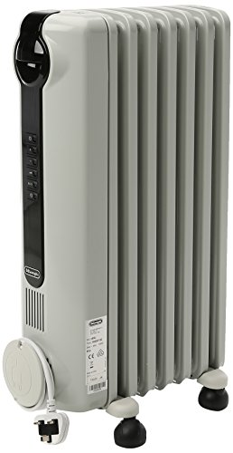 DELONGHI De'Longhi TRRS0715E 1.5KW Oil Filled Radiator-White, Plastic